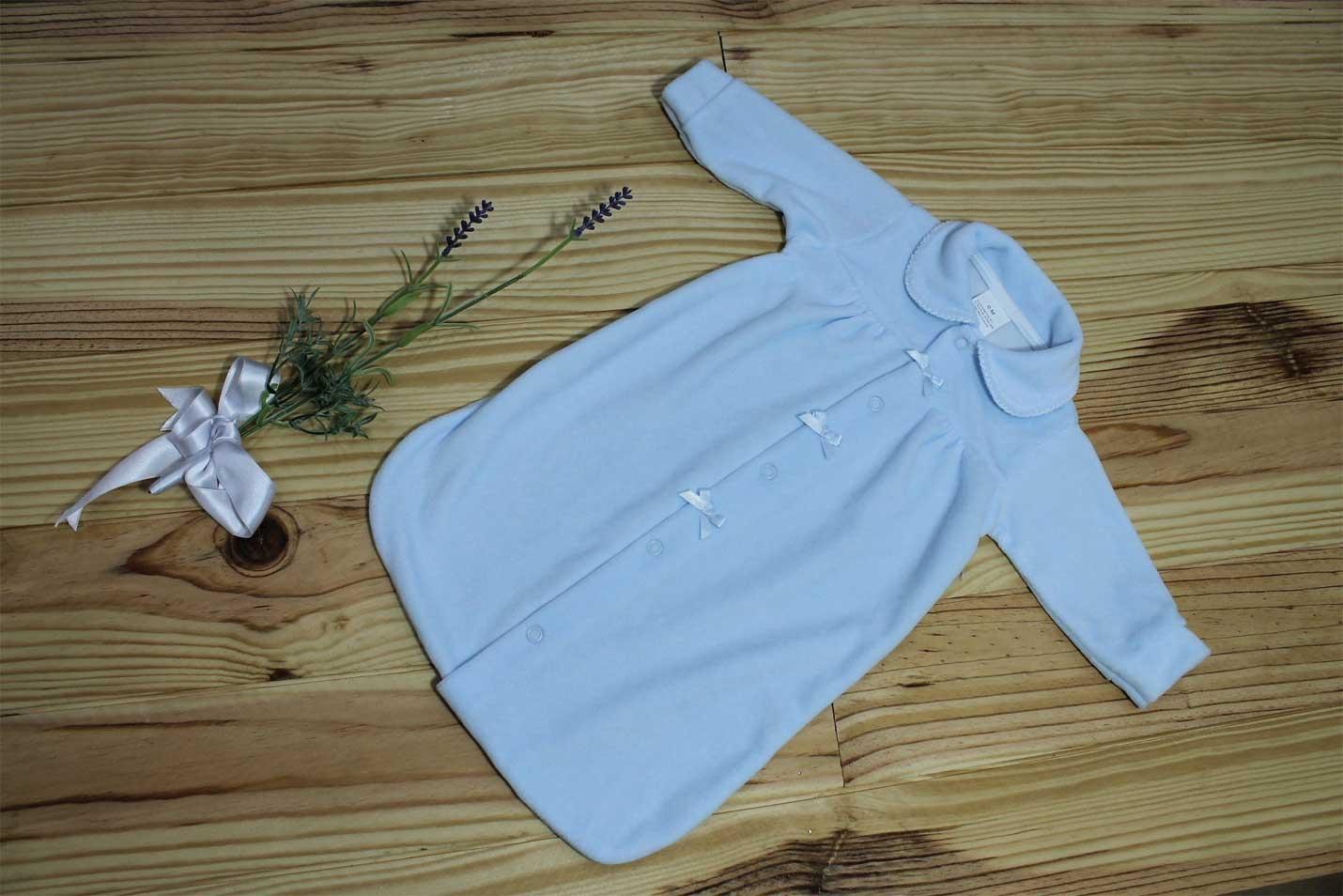 Saco azul para bebé o recién nacido