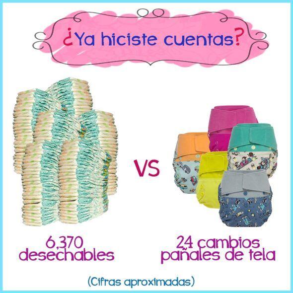 Número de pañales gastados en un año por un bebé