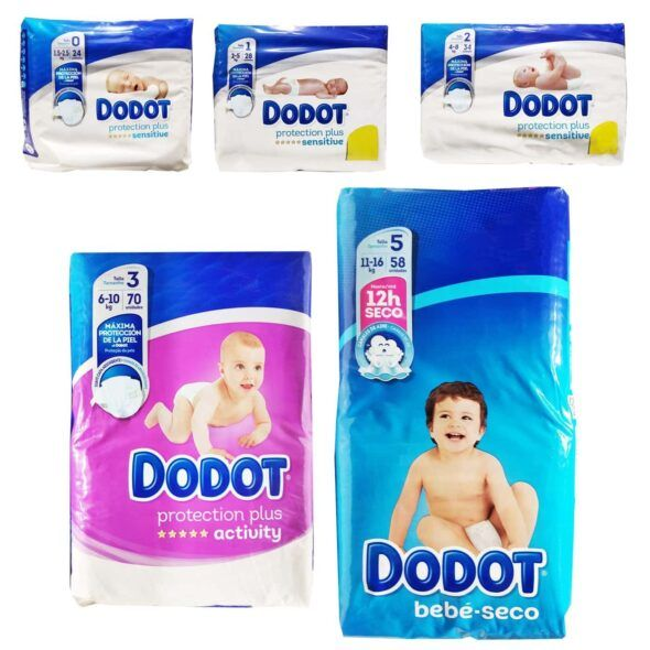 tallas online Dodot (packs mensuales)
