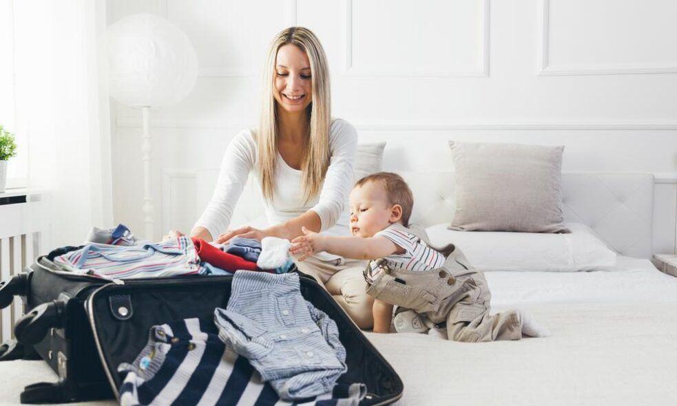 Equipaje del bebé: lo justo y necesario