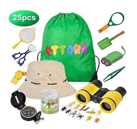 Prismáticos para niños y kit explorador