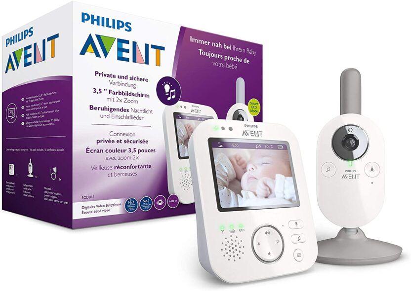 Vigilabebés con vídeo Philips AVENT SCD843/26 de 3,5 pulgadas