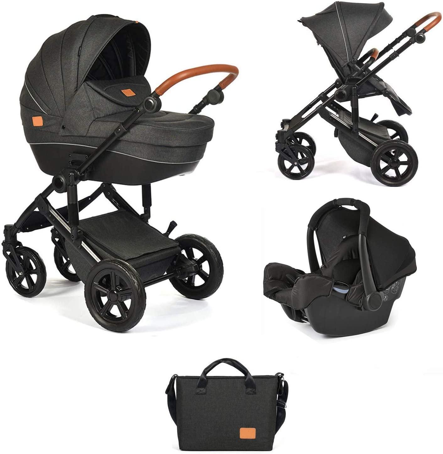 Manillar extensible y asa reversible carrito bebé